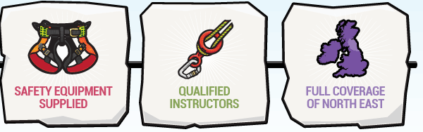 safety equipment supplied / qualified instructors / full coverage of north east